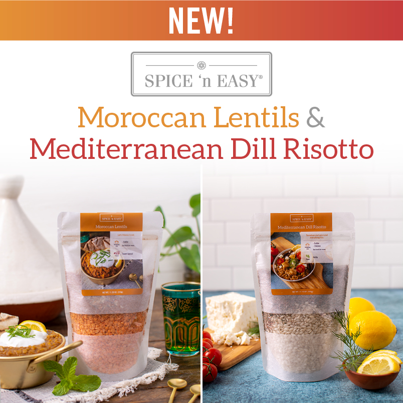 NEW Moroccan Lentils and Mediterranean Risotto