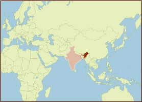 Spice Map - India, Northeastern